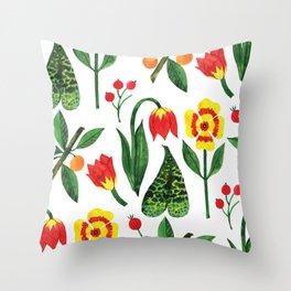 Botanic Watercolor Collection #19 Throw Pillow