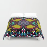 mirror Duvet Covers featuring Mirror by Marcela Caraballo