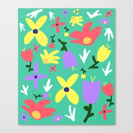 Handmade Bright Spring Pop Art Print Canvas Print