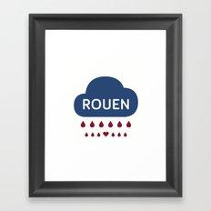 Rainy Rouen Framed Art Print