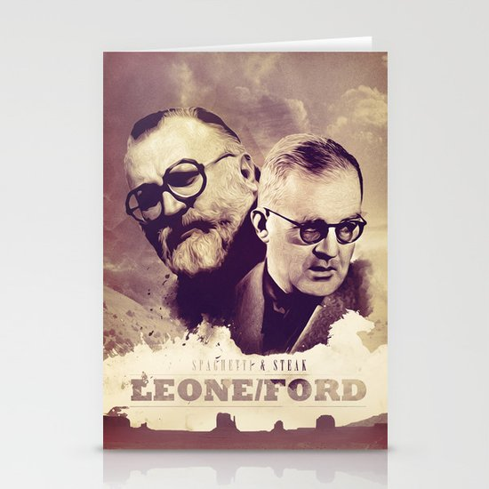 Sergio Leone/John Ford Stationery Cards