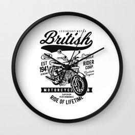legendary motor british Wall Clock