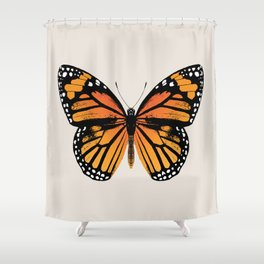 Monarch Butterfly | Vintage Butterfly | Shower Curtain