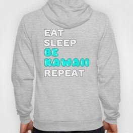 Kawaii Anime Girl Gift I Eat Sleep Anime Repeat Hoody