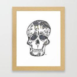 Gray Skull Framed Art Print