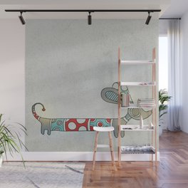 A Nice Little Dotted Dachshund Wall Mural