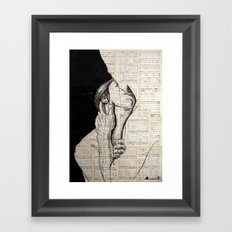 Pretty love Framed Art Print