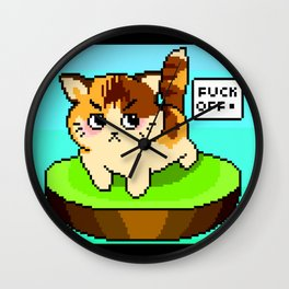 My Stray Neighborhood Cat Wall Clock