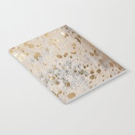 Gold Hide Print Metallic Notebook