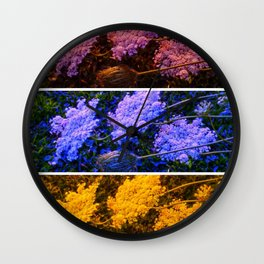 Primary Color Queenn Anne's Lace Wall Clock