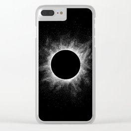 Eclipse - Stippling Clear iPhone Case
