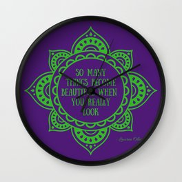 Before I Fall quote - Lauren Oliver Wall Clock