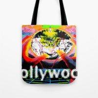 cyberpunk Tote Bags featuring Bollywood Cyberpunk by BOLLYWOOD