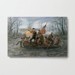 Crossing the Swamp DonaldTrump Art Print Jon McNaughton Metal Print
