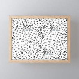 Snow Leopard Animal Print Framed Mini Art Print
