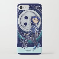 coraline iPhone & iPod Cases featuring Coraline Strength Tarot Card Color by Corinne Elyse