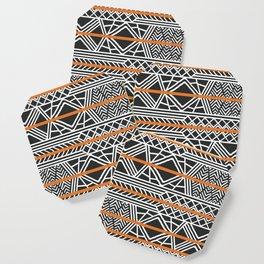 Tribal ethnic geometric pattern 022 Coaster