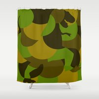 t rex Shower Curtains featuring t-rex by vidikay