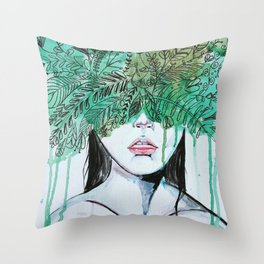 The Darkling Thrush Throw Pillow