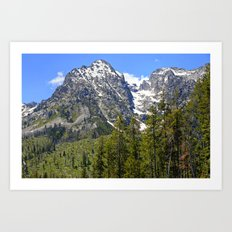 Grand Teton Snowy Peak Art Print