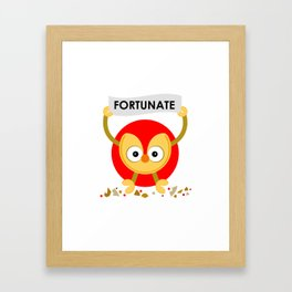 Cute Chinese Fortune Cookie Framed Art Print
