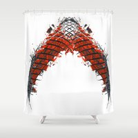 snake Shower Curtains featuring Snake by kartalpaf