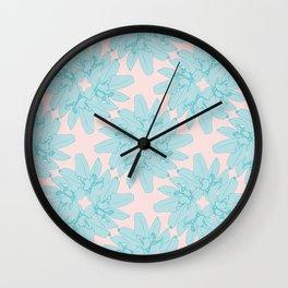 Rolled Leaf Wreath Pattern Wall Clock
