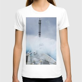 Ship in a storm in the Sargasso Sea T-shirt