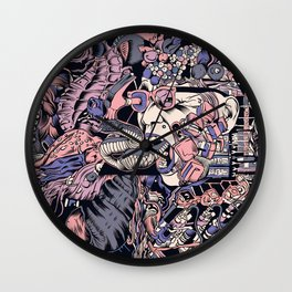 Island pandemonium Wall Clock