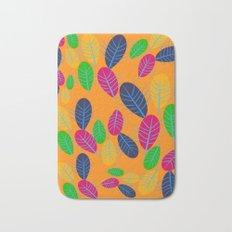 Fall Leaves Pop Pattern Design Bath Mat
