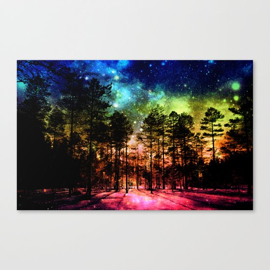 One Magical Night ( Rainbow ) Canvas Print