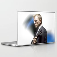 james bond Laptop & iPad Skins featuring Daniel Craig as James Bond by artanjo