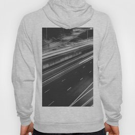 Seattle at Night - Black and White Hoody