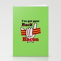 bacon Stationery Cards featuring Bacon by mailboxdisco