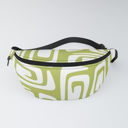 Mid Century Modern Cosmic Abstract 613 Olive Green Fanny Pack