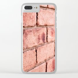 Brick Wall I Clear iPhone Case