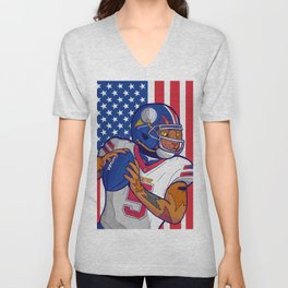 USA Sport Cat Unisex V-Neck