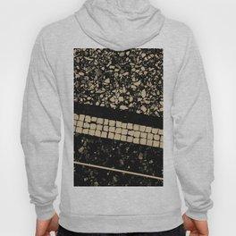 Terrazzo Pattern Black & Gold Sepia #1 #texture #decor #art #society6 Hoody