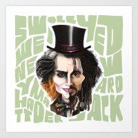 johnny depp Art Prints featuring Johnny Depp by Owen Ballesteros