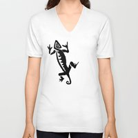 lizard V-neck T-shirts featuring Lizard  by J Styles Designs