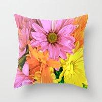 daisy Throw Pillows featuring Daisy by Saundra Myles