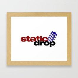 Static drop v4 HQvector Framed Art Print