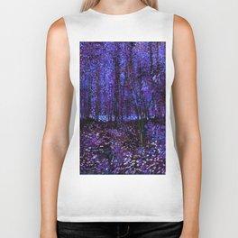 Van Gogh Trees & Underwood Purple Blue Biker Tank