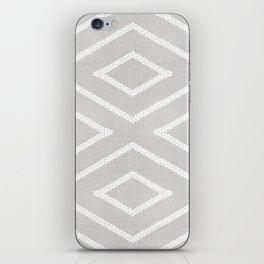 Stitch Diamond Tribal Print in Grey iPhone Skin