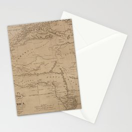 Map Of Africa 1816 Stationery Cards