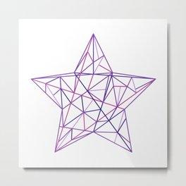 Purple Geometric Star Metal Print