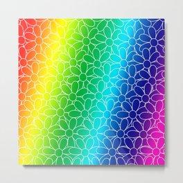 Flowers, Flowers Everywhere ... in Rainbow Colors! Metal Print