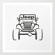 Jeep only Art Print