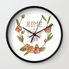 Home is Wherever I Can Poo Wall Clock