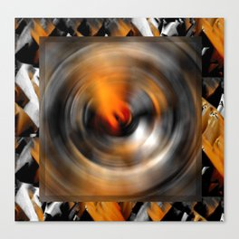 Abstract in Bronze Canvas Print